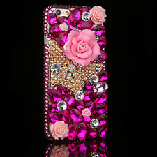 Luxury Bling Crystal Diamond Rhinestone Hard Clear Case Cover For Cell Phones M