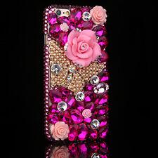 Bling handmade Crystal Diamonds gems flower Soft TPU Gel Back Case Cover Skin #1