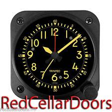 "New TRINTEC  VINTAGE COCKPIT STYLE Travel Alarm Clock Aviator Navigator 3.5"""