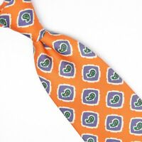 Polo Ralph Lauren Mens Silk Necktie Orange Purple Green Check Paisley Print Tie
