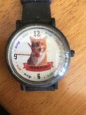 Rare 9 LIVES Morris The Cat Wrist Watch. New Unused