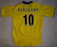 ARSENAL vintage football shirt top *BERGKAMP 10* yellow 2003 2004 away O2 XL