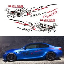 2pcs Car Body Faucet Flame Totem DIY Decals Sticker 1700mm*500mm visual impact
