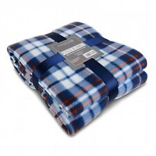 Super Soft and Cosy Blue Fleece Blanket ideal for a bed or big enough for a sofa