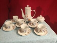 6 Cup Set Demitasse Set Teapot CP Colditz Porcelain German Democratic Republic