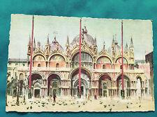 Venizia Chiesa di 5 Marco Ed. A. Traldi di Milano Colorized Postard Antique