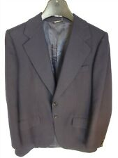 """Burberry Mens 52"""" Single Breasted Navy 100% Pure New Wool Tailored Jacket (UK20)"""