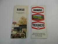 Lot of 2 Vintage Texaco Hawaii Oahu Honolulu Gas Station Travel Road Maps~Box L7
