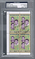 FRED HAISE 1970 HAND SIGNED AUTOGRAPHED STAMPS NASA ASTRONAUT Apollo 13 PSA/DNA