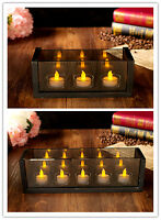 Tea Light LED Electric Candle Holders Set of 4 and 5 for Chrsitmas Gift