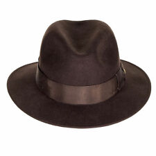 Nash Hat 100% Wool Felt Black Chocolate Brown Classic Quality Fedora Hat S-XL