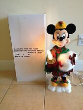 "VTG  MUSICAL DISNEY STORE TELCO XMAS MINNIE MOUSE DISNEY MOTIONETTE 23"" BOX 1996"
