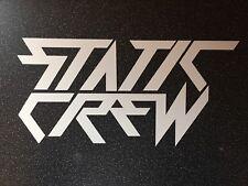 Statique Crew-Violent Look Autocollant-Mat Blanc - 25 cm VW BMW Jap Stance * NEUF *