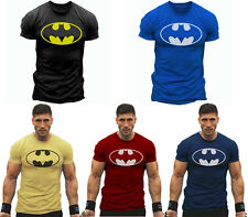 Gym Men Muscle Fit Batman Fitness Cotton Tee Workout T-Shirt Athletic Clothes