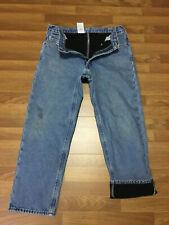 MENS 36 x 30 - Carhartt B155 Denim Fleece Lined Relaxed Fit Jeans Work Pants