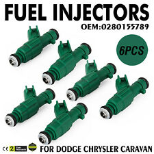 6X OEM Genuine Bosch Fuel Injectors for Chrysler/Dodge/Plymouth  3.3L  FLEX FUEL