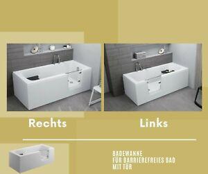 Badewannen mit Türen für barrierefreies Bad rechts/links Panellen