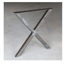 Steel PLUS Dining Table Legs/Base X shape, 1 Pair -66cm/26'' wide 71cm/28''