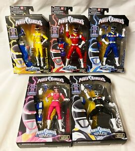 Bandai Power Rangers in Space Legacy Set of 5 Red Black Blue Pink Yellow Sealed