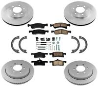 Disc Brake Rotors Ceramic Brake Pads Parking Shoes for Ford Expedition 03-06 8PC