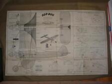 RARE ORIGINAL GLO BUG by CARL GOLDBERG BLUEPRINT AMERICAN HOBBY PLANS 34X21 3/4