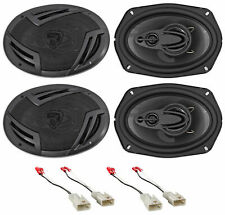 """New listing Rockville 6x9"""" Front+Rear Factory Speaker Replacement For 2002-2006 Toyota Camry"""