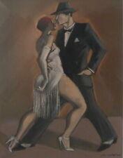 PASTEL Danse TANGO Couple  Mariano OTERO 1942-2019 Rennes Bretagne Espagne