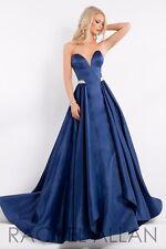 Prima Donna 5880 Navy Winning Pageant Gown Dress sz 8