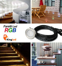 KingLed Faretto RGB 0,4W Calpestabile LED Segnapasso IP67 da Esterno DC12V 1153