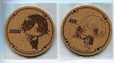 2 pcs Togainu no Chi coaster set anime Shiki Rin