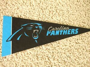 """NEW Carolina Panthers NFL Football Pennant Mini 9"""" Souvenir Felt Flag McCaffrey"""