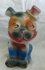 New ListingVintage Chalkware / Chalk Carnival Prize Boston Terrier Bonzo Dog Statue