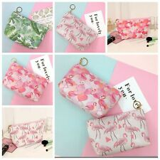 Lovely Flamingo Print Cosmetic Makeup Pouch Toiletry Holder Bag Organizer Wallet