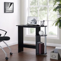 Computer Laptop Desk with Built-in Shelves Home Office Study(us seller!!)