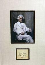 """Mark Twain"" Samuel Longhorne Clemens Original Autograph"