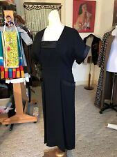 Dramatic 1940's Little Black Dress/Original Blakely Designer