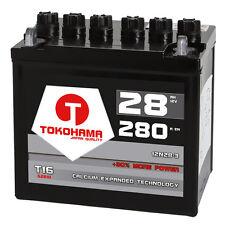 Rasentraktor Batterie Aufsitzmäher 28Ah 12V +Pol Rechts statt 24Ah 26Ah 12N24-3