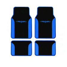 4PC SET BLUE TRIBAL CAR/TRUCK CARPET FLOOR MAT