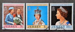 CHANNEL ISLANDS - JERSEY#168-170 used 1977 QEII jubilee set. We combine shippin