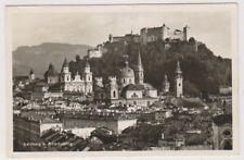 Austria postcard - Salzburg v. Monchsberg - P/U 1950 (A9)