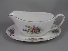 MINTON MARLOW GRAVY BOAT AND SAUCER.