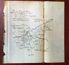 1900 Plano de la Provincia de Matanzas Map Cuba