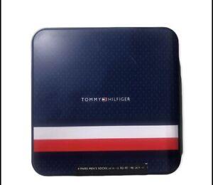 Tommy Hilfiger Mens Socks 4 Pack Gift Tin Size UK 9 - 11 (43-46) £30 Tag On