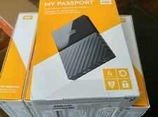 Western Digital My Passport  4TB USB 3.0 Portable External Hard Drive Black NEW!