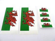 """6 Galles Bandiera Finestra Adesivi, Etichette drago gallese"""", all'interno della vista esterno Fix"""""""