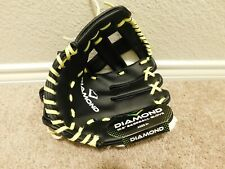 "Brand new Diamond Black & Chartreuse 10.5"" Right handed throw Baseball Glove"