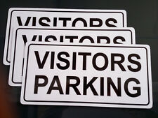 Visitor Parking Pack of 3 Metal Safety Sign 400x200mm Fast Delivery