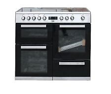 Beko Kdvc 100X 100cm Electric Range Cooker Oven with Ceramic Hob Stainless Steel
