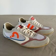 310 Suede Leather Sneakers Beige Tag Orange Mens Size 42