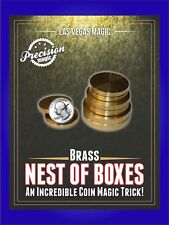 Brass Coin Nest, Nesting Coin Boxes Magic Trick